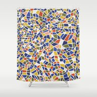 geo Shower Curtains featuring geo by jennifer judd-mcgee