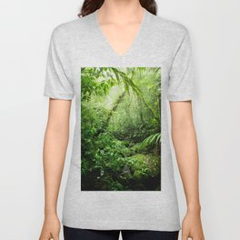 Warm Glow Rainforest Creek Unisex V-Neck