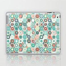 hex diamond coral mint Laptop & iPad Skin