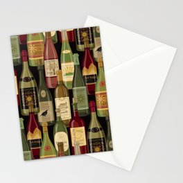 Wine Bottles Stationery Cards