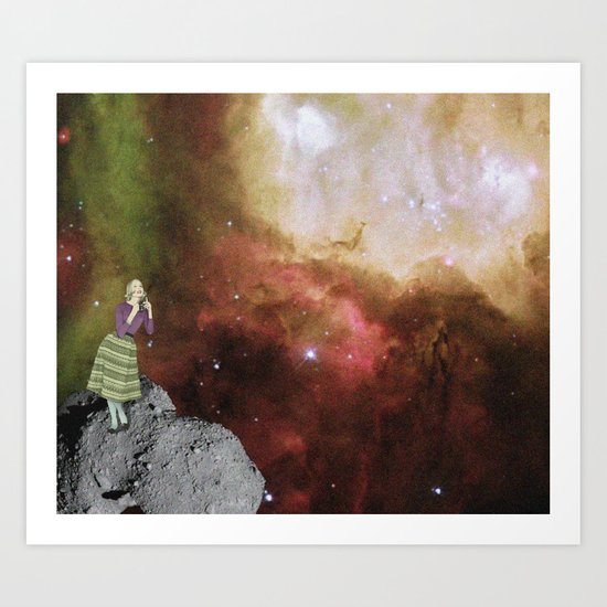 Lady in Space III Art Print