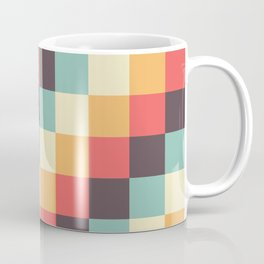 When dad was young - Pixel pattern in muted pastel colors Coffee Mug
