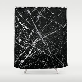 Silver Splatter 090 Shower Curtain