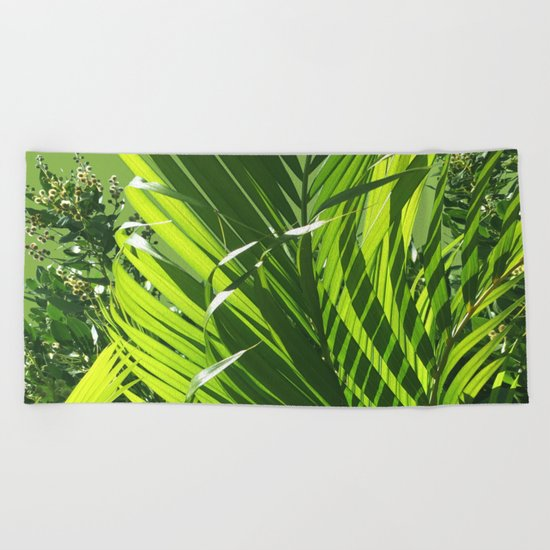 It's All About Greenery Beach Towel