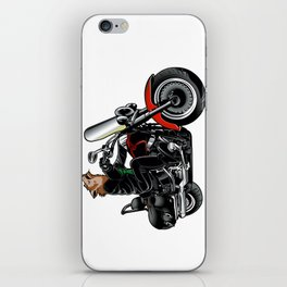 Wolf on the motorcycle iPhone Skin