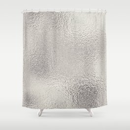 white and silver shower curtain. Simply Metallic in Silver Shower Curtain Platinum Curtains  Society6