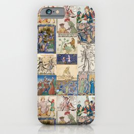 People Getting Stabbed in Medieval Manuscripts iPhone Case