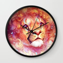 Curly Lion Wall Clock