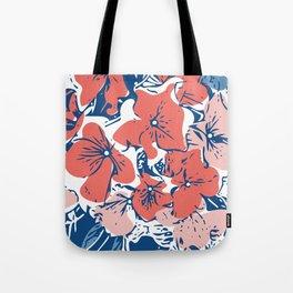 Retro Hydrangea Tote Bag