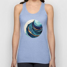 Abstract Blue with Gold Unisex Tanktop