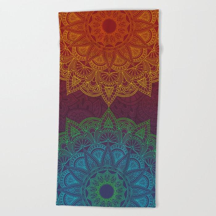 Mandala - twins Beach Towel
