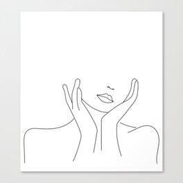 She's a work in progress Canvas Print