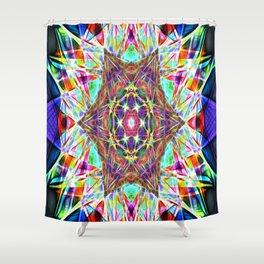 Hyper Hexahedron Shower Curtain