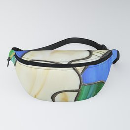 Stain glass cat Fanny Pack