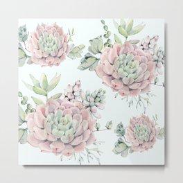 Pink Echeveria #society6 #buyart Metal Print