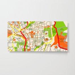 Jerusalem Map Design Metal Print