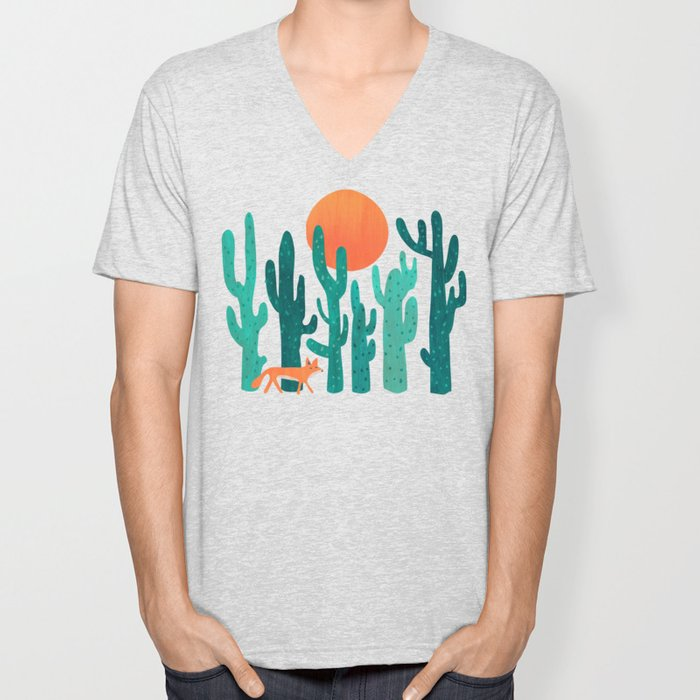 Desert fox Unisex V-Neck