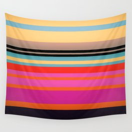 Sunset Stripes Wall Tapestry