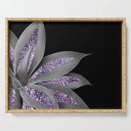 Agave Finesse Glitter Glam #3 #tropical #decor #art #society6 Serving Tray