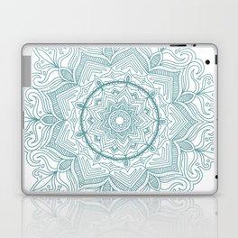 Teal Flower Mandala Laptop & iPad Skin