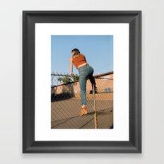 she's outta here Framed Art Print
