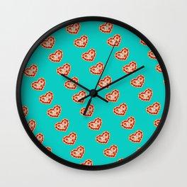 Take A Pizza My Heart Wall Clock