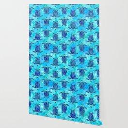 Watercolor Sea Turtles Mandalas Pattern Wallpaper