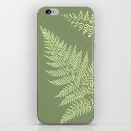 Dark olive fern iPhone Skin