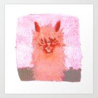 alpaca Art Prints featuring Alpaca!!! by J Han