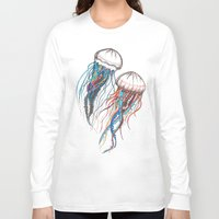 jellyfish Long Sleeve T-shirts featuring JellyFish by Ana Grigolia
