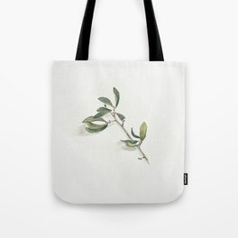 Olive Branch Watercolor Tote Bag