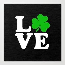 Love with Irish shamrock Canvas Print