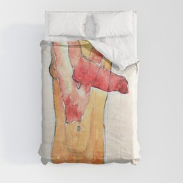 Egon Schiele - Girl Nude with Folded Arms - Digital Remastered Edition Comforters