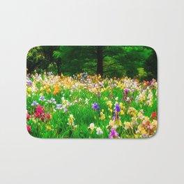 Field Of Iris Bath Mat