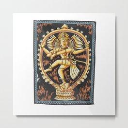 Batik Dancing Shiva Nataraja Wall Hanging Metal Print