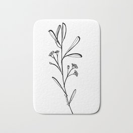 Gum Tree Branch with Blossom by Jess Cargill Bath Mat