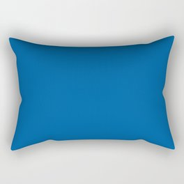 Mid-tone Blue Solid Color Pantone Skydiver 19-4151 Accent to Color of the Year 2021 Rectangular Pillow