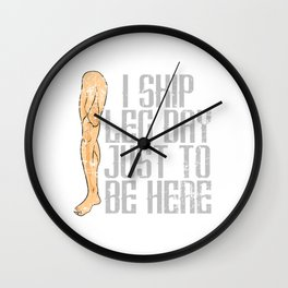 "Nice Leg Day Shirt ""I Skip Leg Day Just To Be Here"" T-shirt Design Dumbbell Injury Injured Fitness Wall Clock"