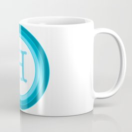 Blue letter H Coffee Mug