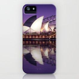 Sydney Waterfront Sunset Postcard iPhone Case