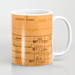 Library Card 23322 Orange Coffee Mug
