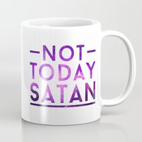 rupaul Mugs featuring NOT TODAY SATAN by GLAMAZON