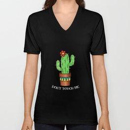 Cactus Gardener Funny Plant Gift Unisex V-Neck