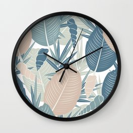 LEAVES AND SHELLS Wall Clock