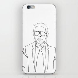 Karl Lagerfeld portrait iPhone Skin