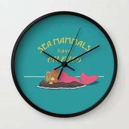 Sea Mammals have Curves Three Wall Clock