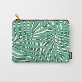 Hawaii Palms Prints, Teal and Green Carry-All Pouch