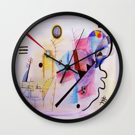 inspiration from Kandinsky . artwork Wall Clock