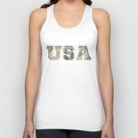 the national Tank Tops featuring National Anthem by anthonykun