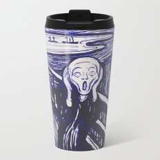 The Scream's Haze (dark blue) Metal Travel Mug